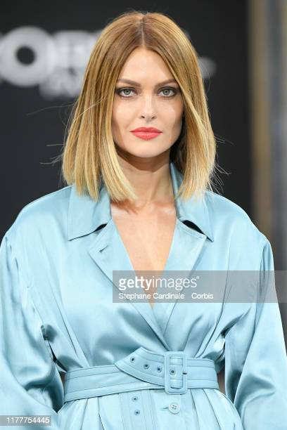 "Caroline Receveur walks the runway during the ""Le Defile L'Oreal Paris"" Show as part of Paris Fashion Week on September 28, 2019 in Paris, France."