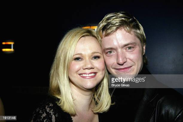 Caroline Rhea and her band leader Chris Botti celebrate at the Opening Night Party for The Roundabout Theater Company Production of Nine at The China...