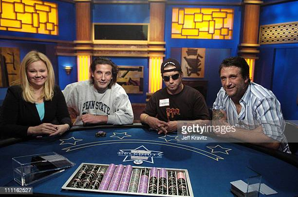 Caroline Rhea William Baldwin Stephen Baldwin and Danny Baldwin during Celebrity Blackjack Matt Vasgersian hosts Celebrity Blackjack a one hour...