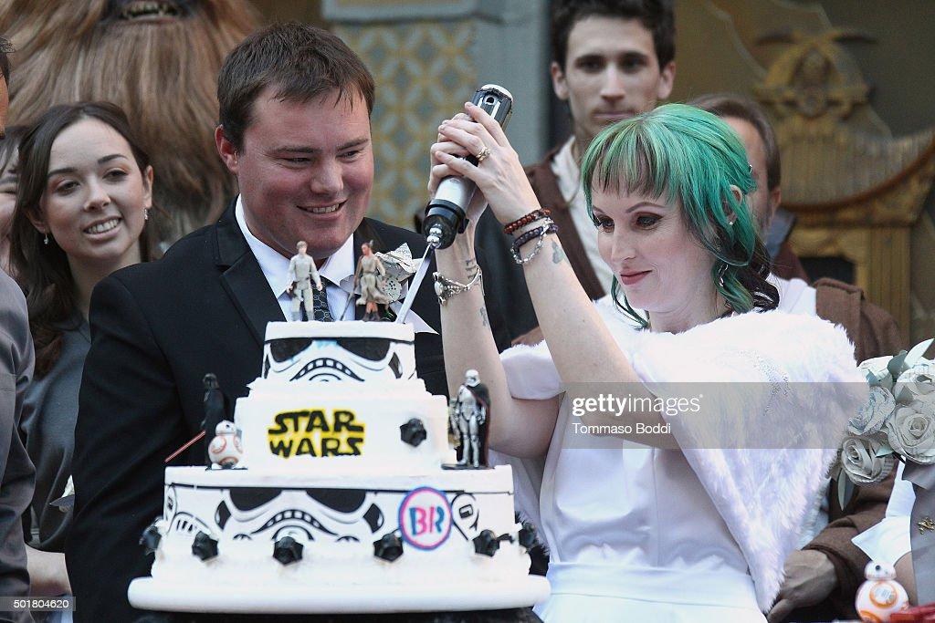 A Star Wars Wedding : News Photo
