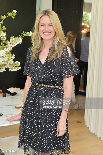 Caroline Roesch attends Cindy Crawford x Sarah Flint celebrate the Sarah Flint spring footwear collection at a private residence on April 10 2018 in...