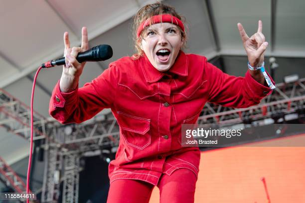 Caroline Rose performs at the Bonnaroo Music & Arts Festival on June 13, 2019 in Manchester, Tennessee.