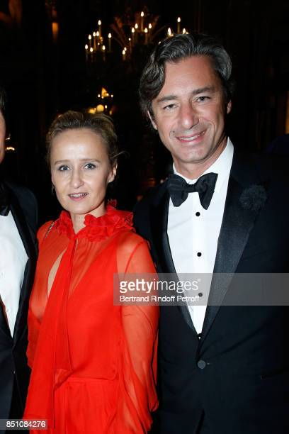 Caroline Roux and General Director of Facebook France Laurent Solly attend the Opening Season Gala Ballet of Opera National de Paris Held at Opera...