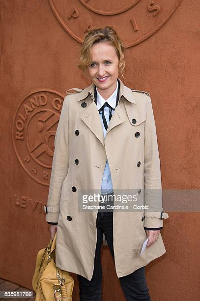 Caroline Roux attends the Roland Garros French Tennis Open 2014