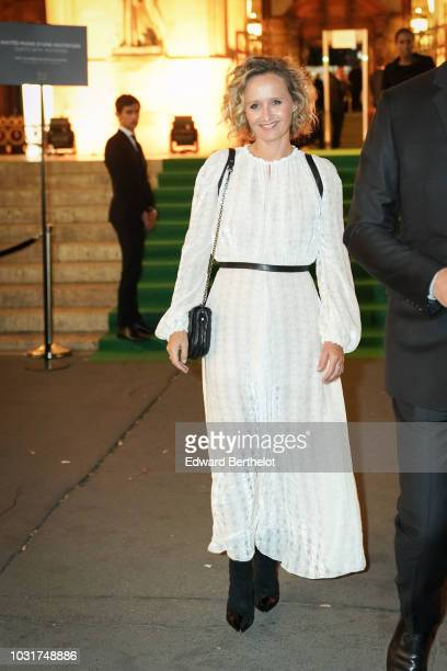 Caroline Roux journalist is seen outside the Longchamp 70th Anniversary Celebration at Opera Garnier on September 11 2018 in Paris France