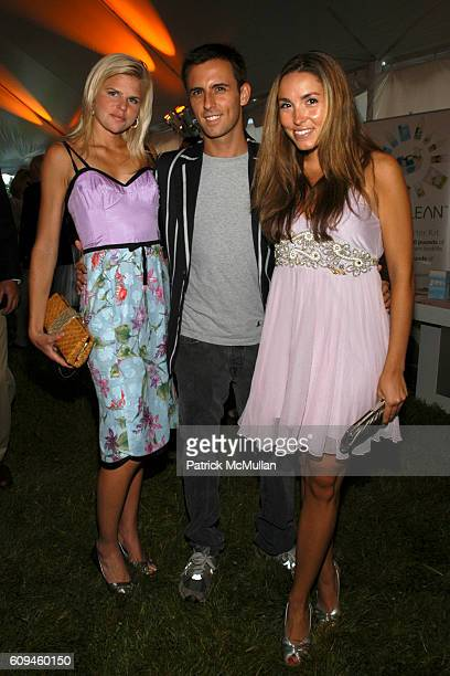 Caroline Rowley Justin Belmont and Anya Assante attend GROUP FOR THE EAST END 35th Anniversary GALA at The Wolffer Estate Vineyard on June 16 2007 in...
