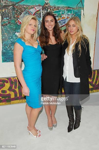 Caroline Rowley Rachel Roberts and Alina Kohlem attend TONY SHAFRAZI GALLERY opening and AfterParty at Tony Shafrazi Gallery and Mr Chows Tribeca NYC...
