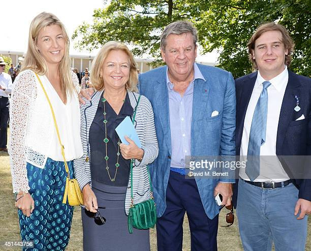Caroline Rupert Gaynor Rupert Johann Rupert and Anton Rupert attends the Cartier Style Luxury Lunch at the Goodwood Festival of Speed on June 29 2014...