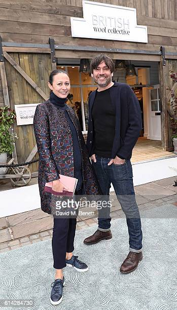 Caroline Rush and Alex James attend the Bicester Village British Wool Collective on October 13 2016 in Bicester England