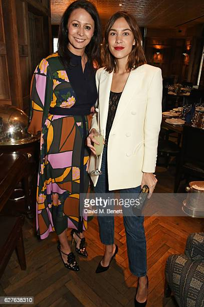 Caroline Rush and Alexa Chung attend The Fashion Awards in partnership with Swarovski nominees' lunch hosted by the British Fashion Council with Grey...
