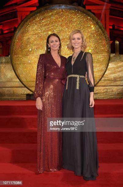 Caroline Rush and Eva Herzigova during The Fashion Awards 2018 In Partnership With Swarovski at Royal Albert Hall on December 10, 2018 in London,...