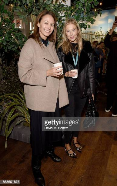 Caroline Rush and guest at the opening of the new Bicester Village and the launch of the British Collective at Bicester Village on October 20 2017 in...