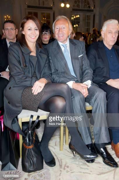 Caroline Rush and Harold tillamn seen front row at the Maria Grachvogel Autumn/Winter 2012 show at London Fashion Week at The Savoy Hotel on February...