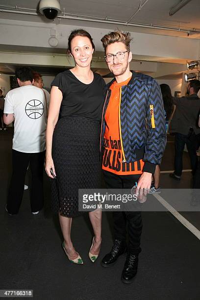 Caroline Rush and Henry Holland attend the House of Holland presentation during London Collections Men SS16 on June 14, 2015 in London, England.