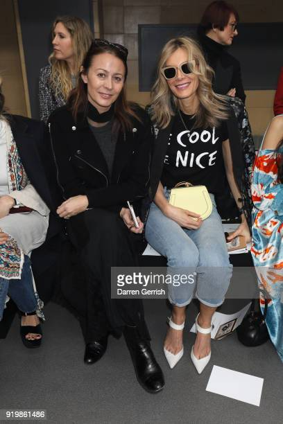 Caroline Rush and Kim Hersov attend the Temperley London show during London Fashion Week February 2018 at on February 18 2018 in London England