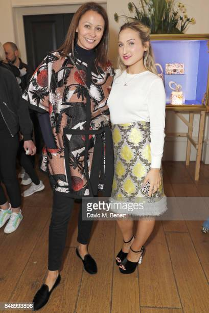 Caroline Rush and Sophia Webster attend the Sophia Webster SS18 Presentation at The Portico Rooms Somerset House on September 18 2017 in London...