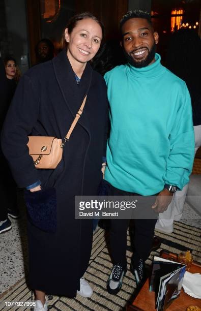 Caroline Rush and Tinie Tempah attend a VIP dinner celebrating the What We Wear x Filling Pieces sneaker collaboration during London Fashion Week...