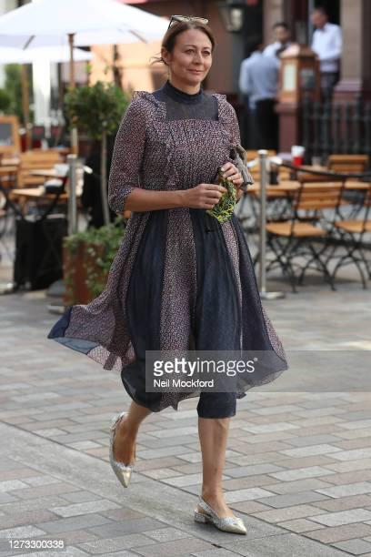 Caroline Rush attends BORA AKSU at St Paul's Church, Covent Garden during London Fashion Week September 2020 on September 18, 2020 in London, England.