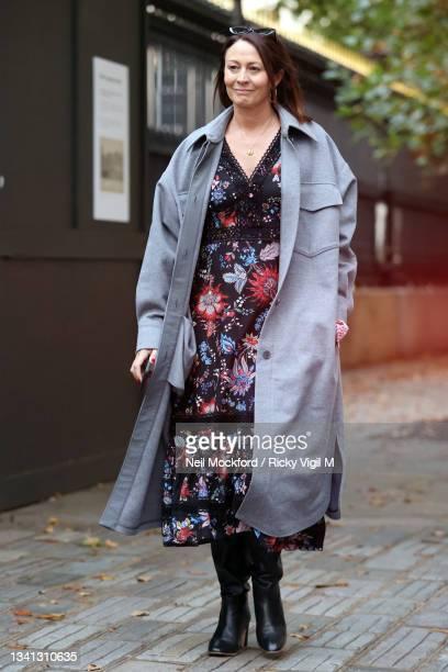 Caroline Rush attends Erdem at The British Museum during London Fashion Week September 2021 on September 19, 2021 in London, England.