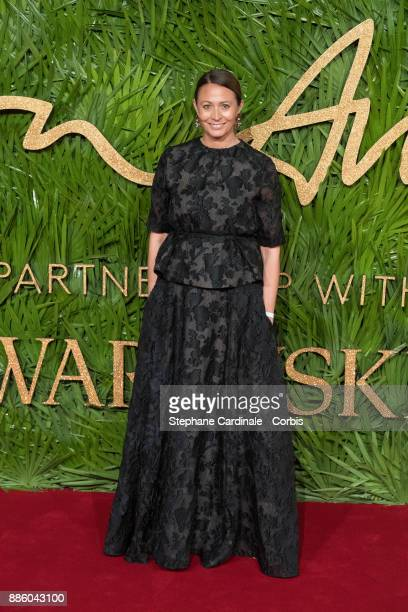 Caroline Rush attends the Fashion Awards 2017 In Partnership With Swarovski at Royal Albert Hall on December 4 2017 in London England