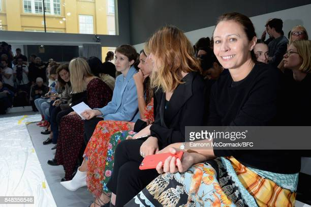Caroline Rush attends the Margaret Howell show during London Fashion Week September 2017 on September 17, 2017 in London, England.