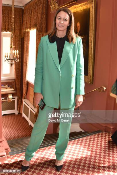 Caroline Rush attends the Ryan LO front row during London Fashion Week September 2018 at Stationers' Hall on September 14 2018 in London England