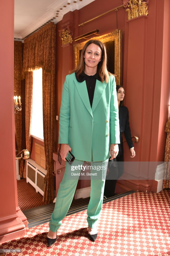 Caroline Rush attends the Ryan LO front row during London Fashion Week September 2018 at Stationers' Hall on September 14, 2018 in London, England.