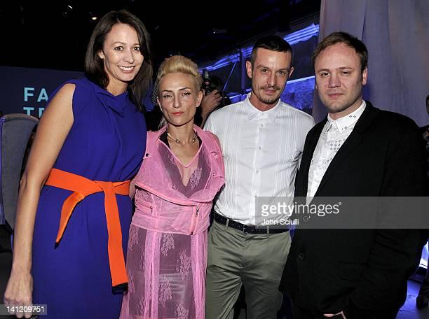 Caroline Rush Barbara Grispini Jonathan Saunders and Nicholas Kirkwood attend the British Fashion Council's LONDON Show ROOMS LA opening cocktail...