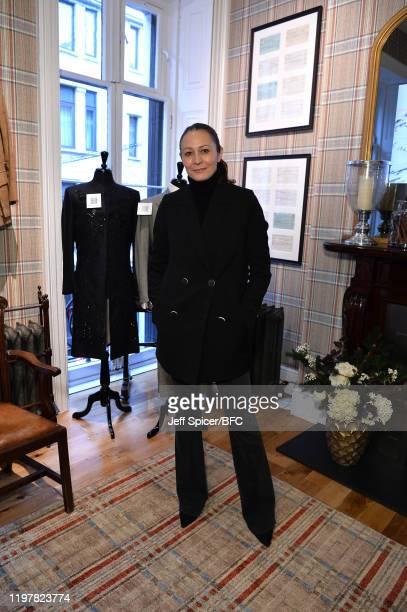 Caroline Rush, Chief Executive of the British Fashion Council at the BFC and Huntsman, Savile Row Presents:The Huntsman Archive & Bespoke Tweed...