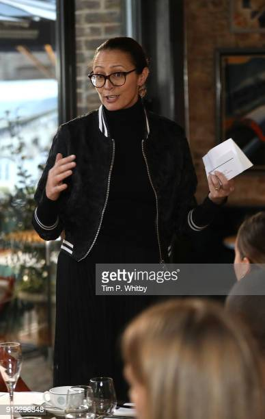 Caroline Rush Chief executive of the British Fashion Council attends an afternoon tea event to discuss the upcoming London Fashion Week Festival at...