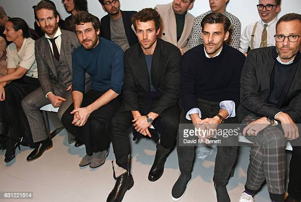 Caroline Rush Craig McGinlay Robert Konjic Andrew Cooper Johannes Huebl and Andrew Weitz attends the Christopher Raeburn show during London Fashion...