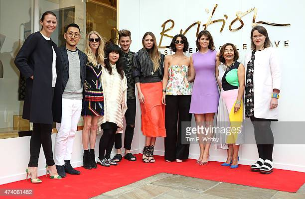 Caroline Rush Eudon Choi Mary Charteris JJS Lee Henry Holland Amber Le Bon Yasmin Sewell Gemma Arterton Desir'e Bollier and Holly Fulton attend the...