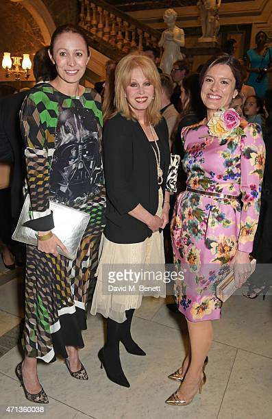 Caroline Rush Joanna Lumley and Mirima Gonzalez Durantez attend the LDNY show and WIE Award gala sponsored by Maserati at Goldsmith Hall on April 27...