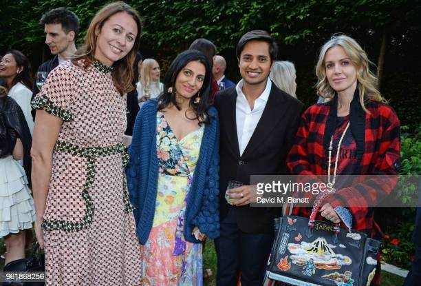 Caroline Rush Megha Mittal Aditya Mittal and Maddalena Mincione attend the 2018 BFC Fashion Trust grant recipients announcement hosted by Megha...
