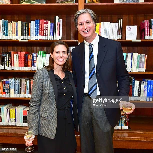 Caroline Saudek and Jared Goss attend Ben Pentreath Lecture at the Institute of Classical Architecture Art at General Society Library on November 7...