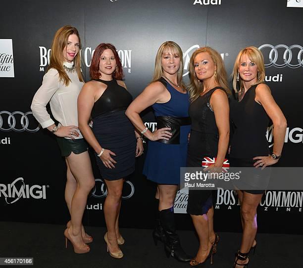 Caroline Schaeffer Chery McKelley Kathy Douglas Dierdre Estes and Alison Gill attend the Boston Common Magazine And Audi Celebrate Fall Fashion With...
