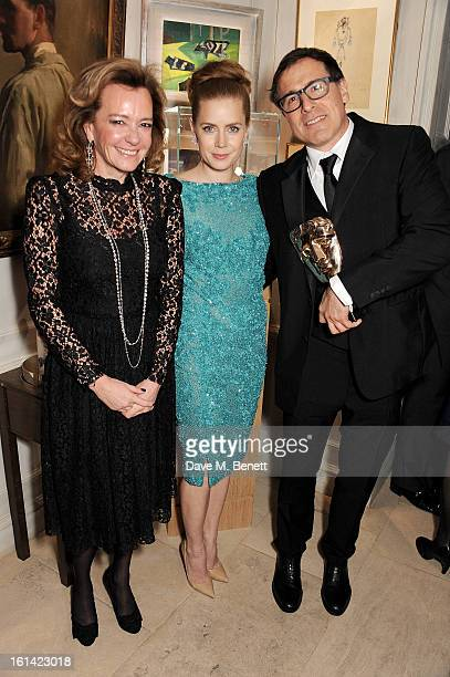 Caroline Scheufele Amy Adams and David O Russell attend The Weinstein Company and Entertainment Film Distributors PostBAFTA Party hosted by Chopard...