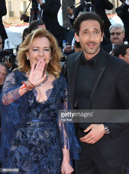 Caroline Scheufele and Adrien Brody attend the Closing Ceremony screening of 'The Man Who Killed Don Quixote' during the 71st annual Cannes Film...