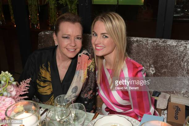 Caroline Scheufele and Amanda Hearst attend the MAISONDEMODECOM Sustainable Style Gala at The Sunset Tower on February 23 2019 in Los Angeles...