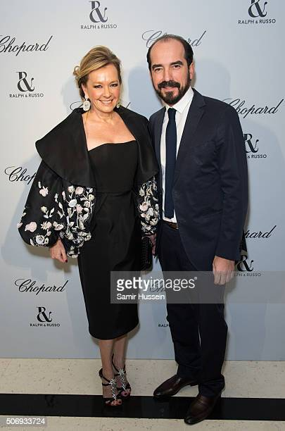 Caroline Scheufele and French Film Director attend the Ralph Russo and Chopard dinner during part of Paris Fashion Week on January 25 2016 in Paris...