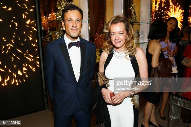 Caroline Scheufele and guest attend the Baccarat Goldfinger party in paris on September 8 2017 in Paris France
