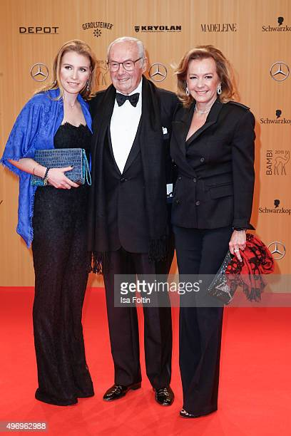 Caroline Scheufele and guests attend the Kryolan At Bambi Awards 2015 Red Carpet Arrivals on November 12 2015 in Berlin Germany