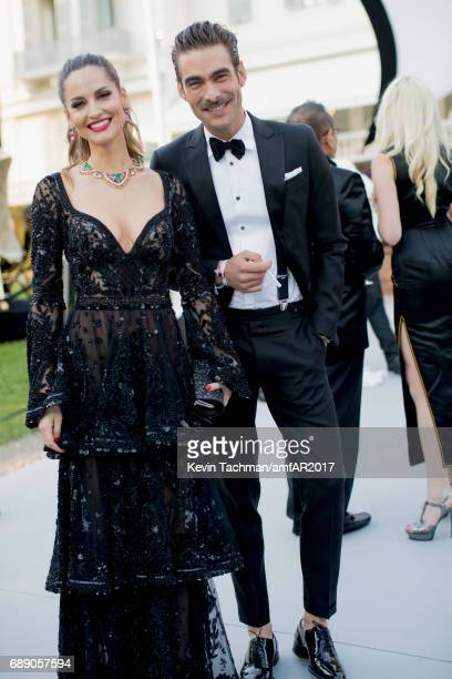 Caroline Scheufele and Jon Kortajarena attend the amfAR Gala Cannes 2017 at Hotel du CapEdenRoc on May 25 2017 in Cap d'Antibes France