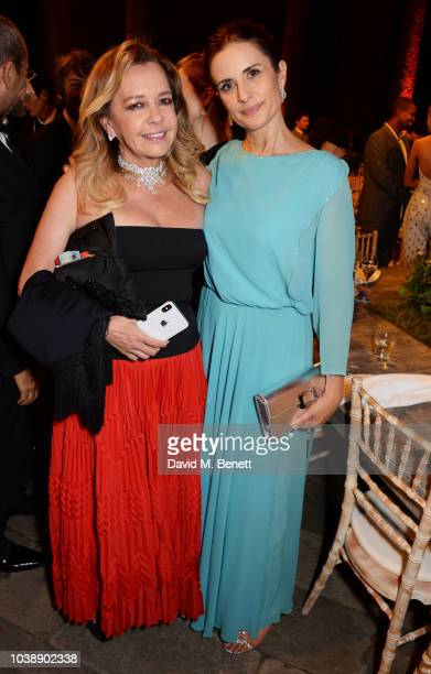 Caroline Scheufele and Livia Firth attend The Green Carpet Fashion Awards Italia 2018 after party at Gallerie d'Italia on September 23 2018 in Milan...