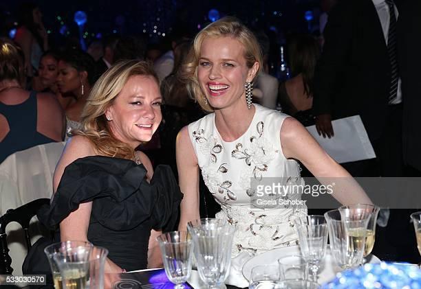 Caroline Scheufele and model Eva Herzigova attend the amfAR's 23rd Cinema Against AIDS Gala at Hotel du CapEdenRoc on May 19 2016 in Cap d'Antibes...