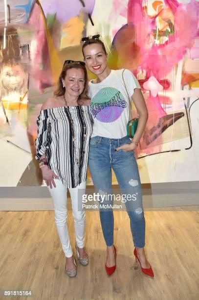 Caroline Scheufele and Petra Nemcova attend Art Basel Miami Beach Private Day at Miami Beach Convention Center on December 6 2017 in Miami Beach...