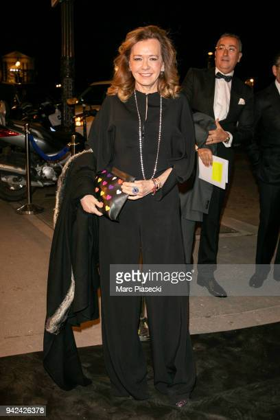 Caroline Scheufele arrives to attend the 'Madame Figaro' dinner at Automobile Club de France on April 5 2018 in Paris France
