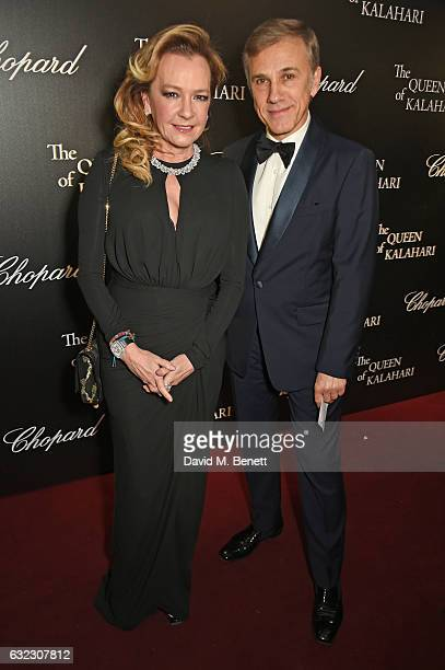 Caroline Scheufele Artistic Director and CoPresident of Chopard and Christoph Waltz attends as Chopard presents The Garden Of Kalahari collection at...