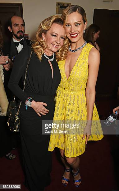 Caroline Scheufele Artistic Director and CoPresident of Chopard and Petra Nemcova attend as Chopard presents The Garden Of Kalahari collection at...