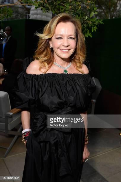 Caroline Scheufele attends amfAR Paris Dinner 2018 at The Peninsula Hotel on July 4 2018 in Paris France